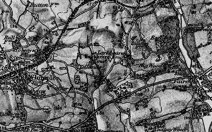 Old map of Larkbeare Court in 1898