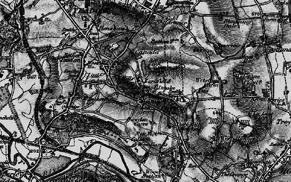 Old map of Larkfield in 1898