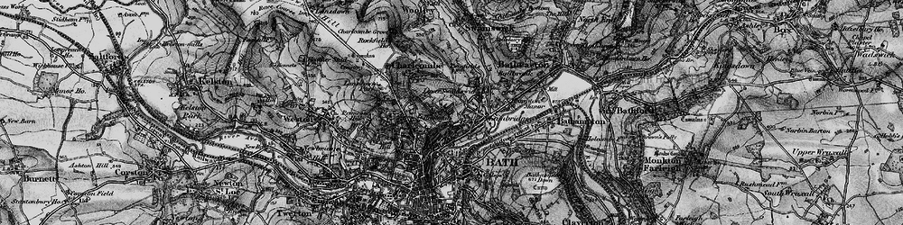 Old map of Larkhall in 1898