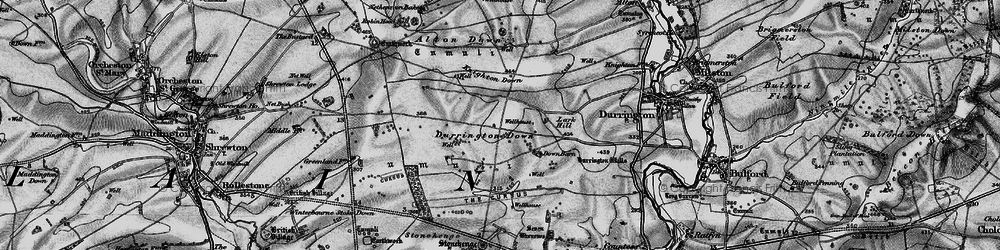 Old map of Alton Down in 1898