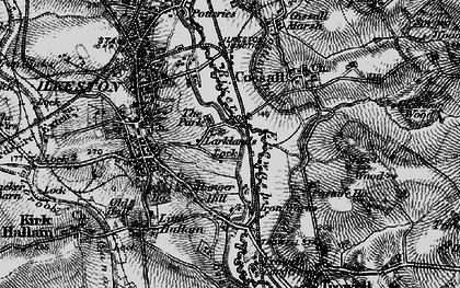 Old map of Larklands in 1895