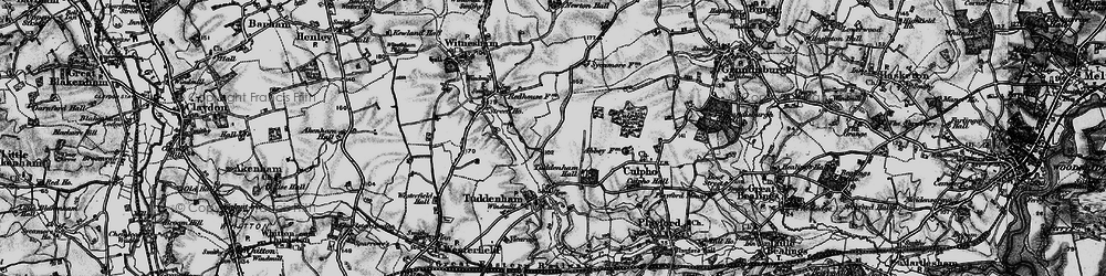Old map of Larks' Hill in 1896