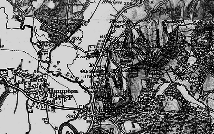 Old map of Larport in 1898