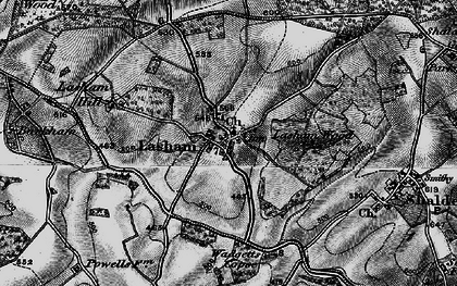 Old map of Lasham Hill in 1895