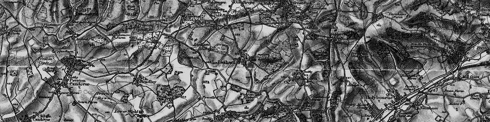 Old map of Lasham in 1895