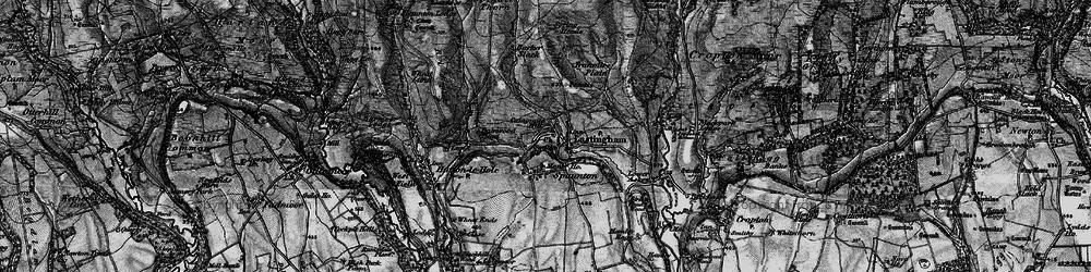 Old map of Lastingham in 1898
