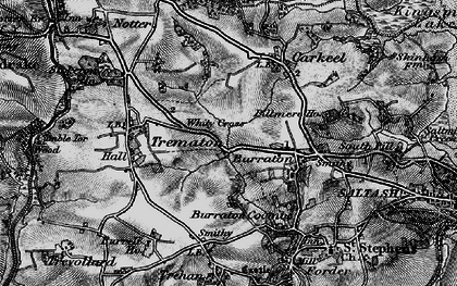 Old map of Latchbrook in 1896