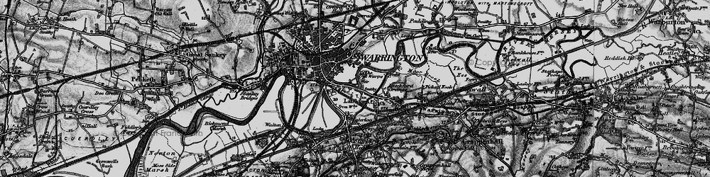 Old map of Latchford in 1896