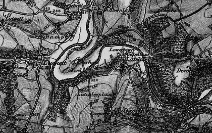 Old map of Latchley in 1896