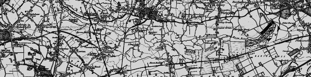 Old map of Lately Common in 1896