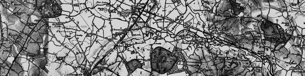 Old map of Lathom Ho in 1896