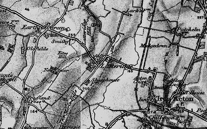 Old map of Latteridge in 1898