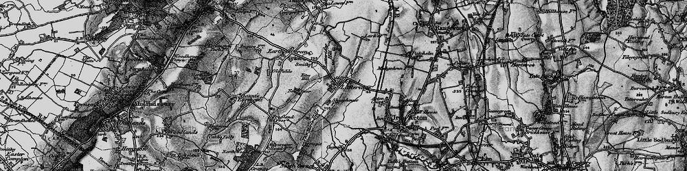 Old map of Latteridge Hill in 1898
