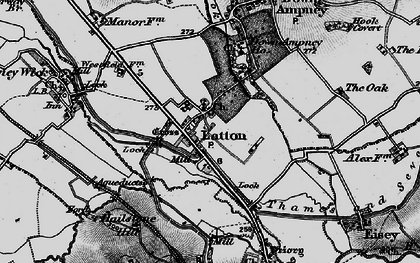 Old map of Latton in 1896