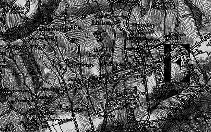 Old map of Latton Bush in 1896