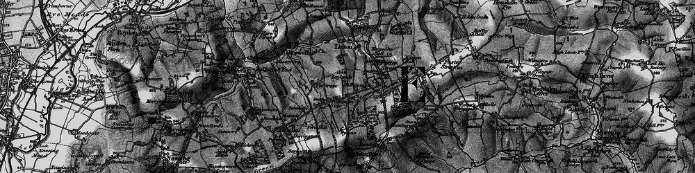 Old map of Latton Bush in 1896