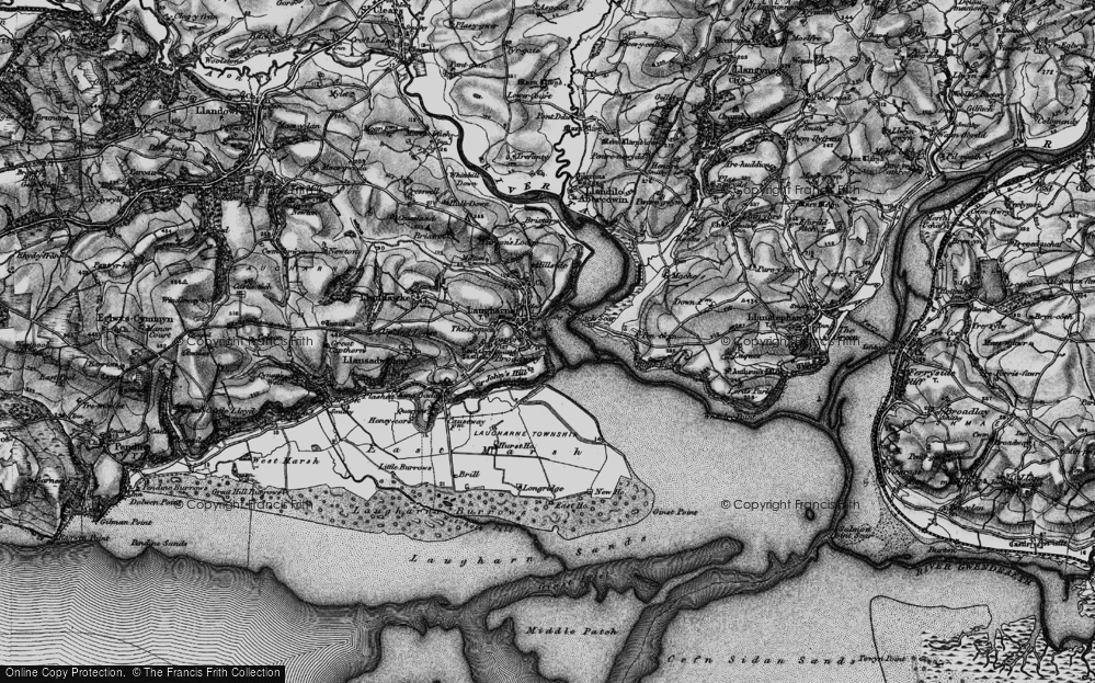Old Map of Historic Map covering Laques-fawr in 1896