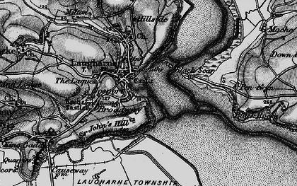 Old map of Laugharne in 1896