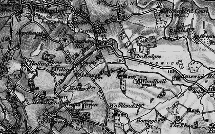 Old map of Laughern Hill in 1898