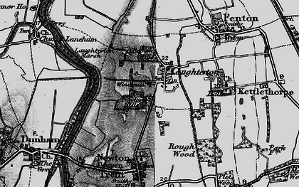Old map of Laughterton in 1899
