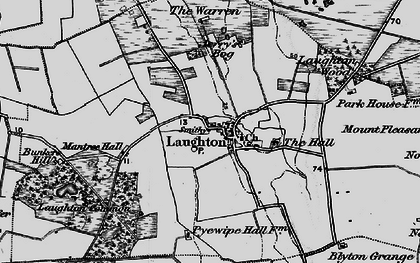 Old map of Laughton Wood in 1895