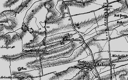 Old map of Laughton in 1895