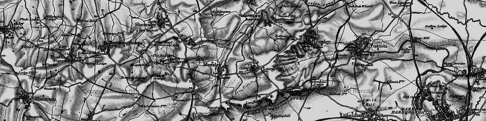 Old map of Laughton in 1898