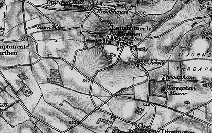 Old map of Laughton Common in 1895
