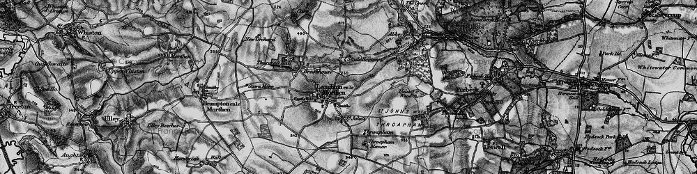 Old map of Laughton en le Morthen in 1895