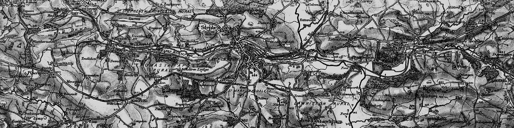 Old map of Launceston in 1896