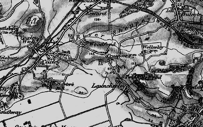 Old map of Launcherley in 1898