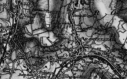 Old map of Laund in 1896