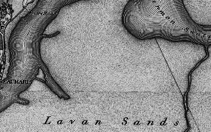 Old map of Lavan Sands in 1899