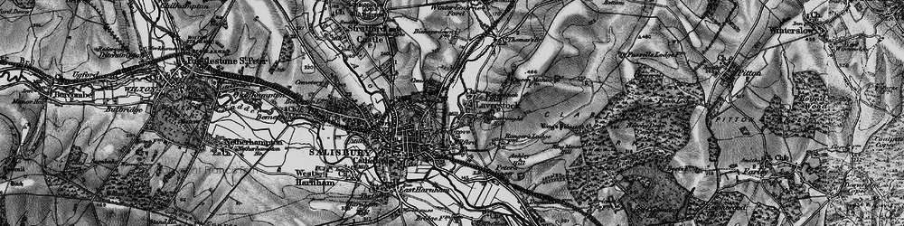 Old map of Laverstock in 1895