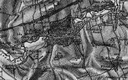 Old map of Laverstoke Wood in 1895