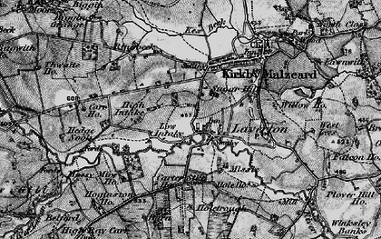 Old map of Laver Ho in 1897