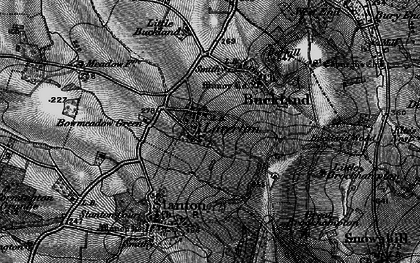 Old map of Laverton in 1898