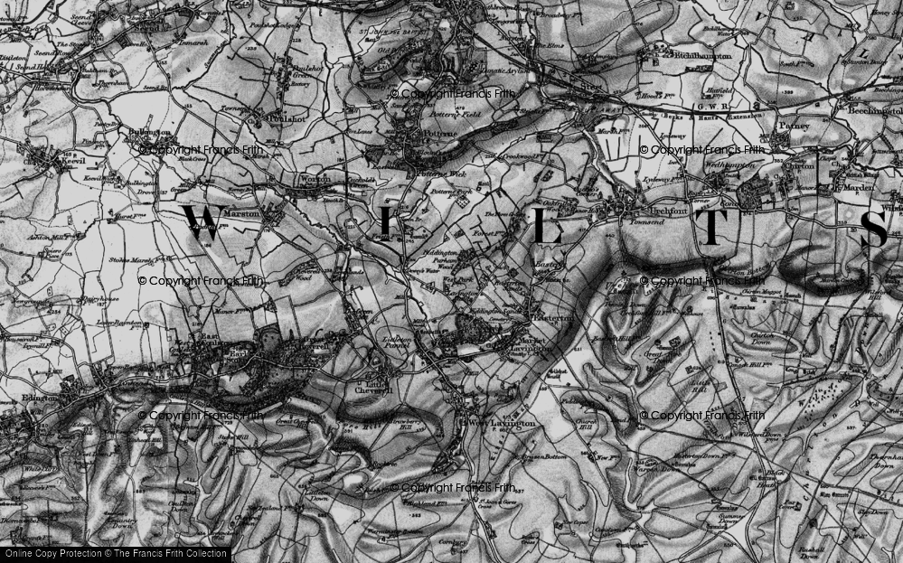 Old Map of Lavington Sands, 1898 in 1898