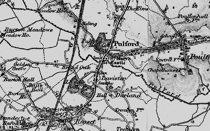 Old map of Lavister in 1897