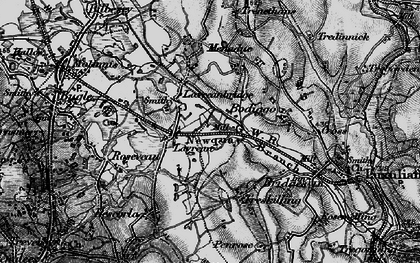 Old map of Lavrean in 1895