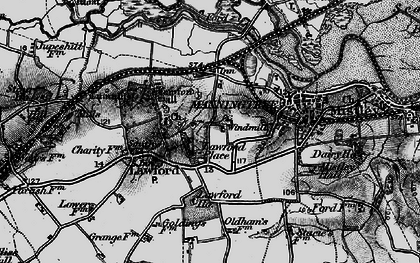 Old map of Lawford Hall in 1896