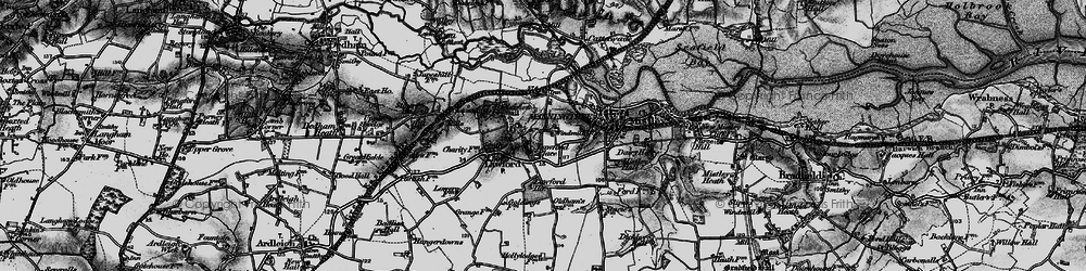 Old map of Aldhams in 1896