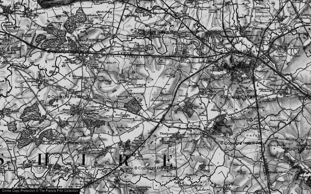Old Map of Lawford Heath, 1898 in 1898