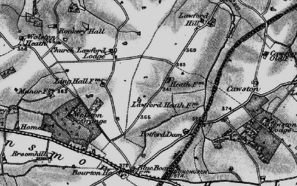 Old map of Lawford Heath in 1898