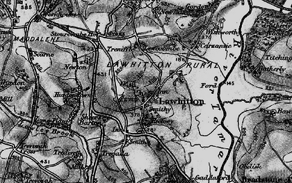 Old map of Lawhitton in 1896