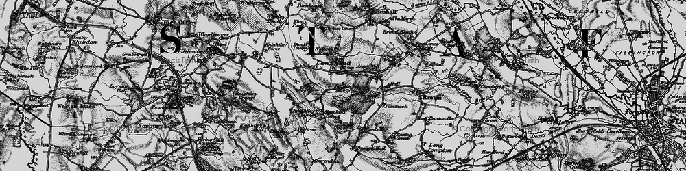 Old map of Lawnhead in 1897