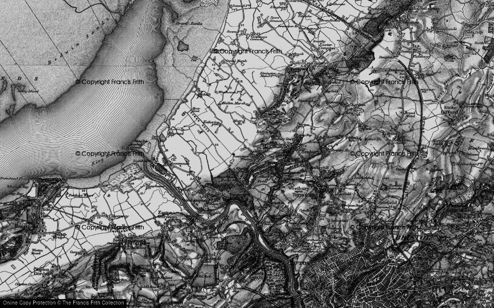 Old Map of Lawrence Weston, 1898 in 1898