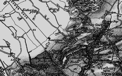 Old map of Lawrence Weston in 1898