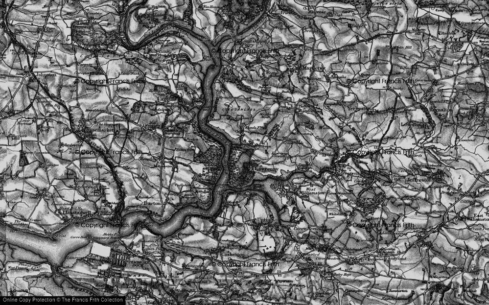 Old Map of Lawrenny, 1898 in 1898