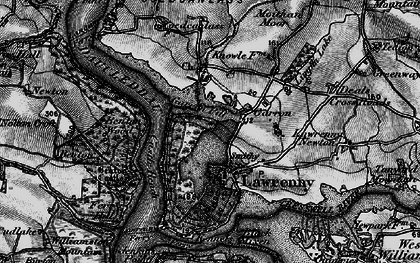 Old map of Lawrenny in 1898